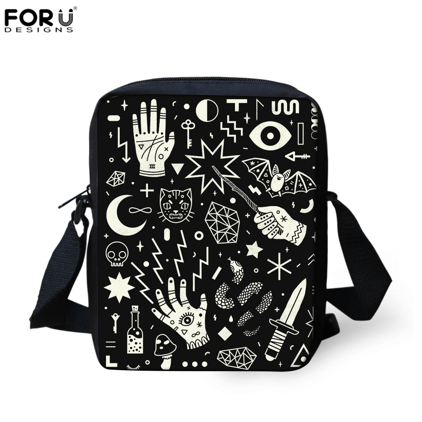 FORUDESIGNS SpellBound Witchcraft Ouija Crafty Pattern Crosssbody Messenger Bags Women Hand Bag Mini Shopping Shoulder New