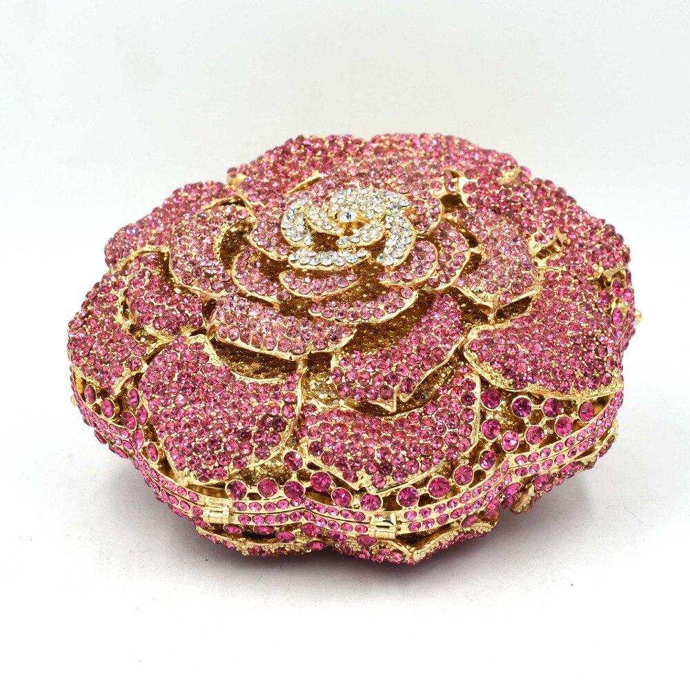 5 Farbe Luxus Candy Multicolor Blume Kristall Kette Clutch Bag Golden Diamond Hochzeit Frauen Party handtasche Abendtasche SC589-in Taschen mit Griff oben aus Gepäck & Taschen bei  Gruppe 3