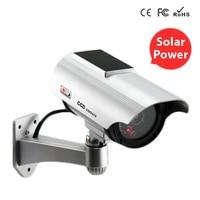 Solar Power Fake Camera Outdoor Security CCTV Surveillance Dummy Camera With Flash LED Light