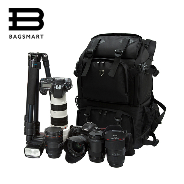 BAGASMART Camera Bags Anti Theft Professional Gear Backpack For SLR DSLR Cameras 15
