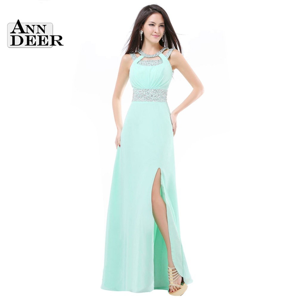 2017 New Design Side Split Plus Size Long Mint Green Cheap Bridesmaid  Dresses Under  50 Long Party Dress S322C-in Bridesmaid Dresses from  Weddings   Events adf5224fd88c