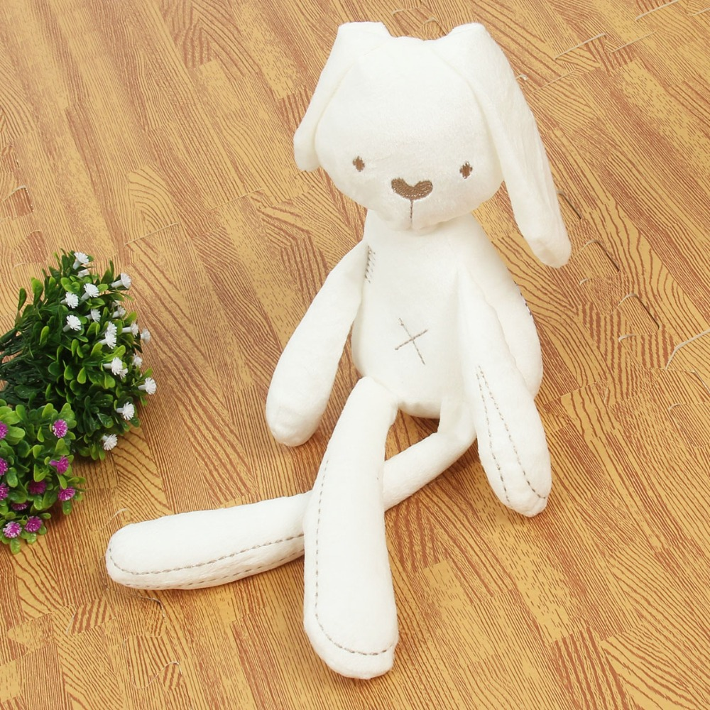 2018 Cute Rabbit Doll Baby Soft Plush Toys For Children Bunny Sleeping Mate Stuffed &Plush Animal Baby Toys For Infants(China)
