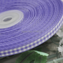 2/8″ 6mm Purple Color tartan plaid ribbon bows appliques craft/sewing/doll Lots U pick 50Yard