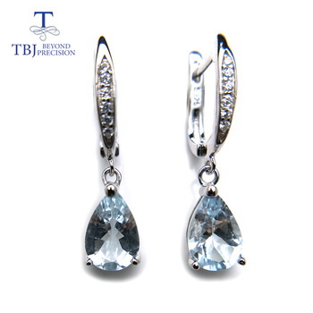 tbj butterfly shape bracelet and earring with natural rainbow opal gemstone set in 925 sterling silver fine jewelry for women TBJ,Natural brazil aquamarine dangle earring in 925 sterling silver small cute simple gemstone jewelry for girls with gift box