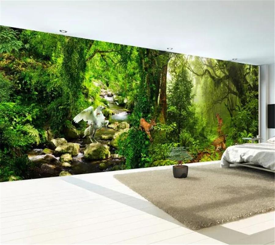 Beibehang Custom Wallpaper 3d Mural Wonderland Forest Full Scene Huge Landscape Living Room Wall Papers Home Decor 8d Wallpaper
