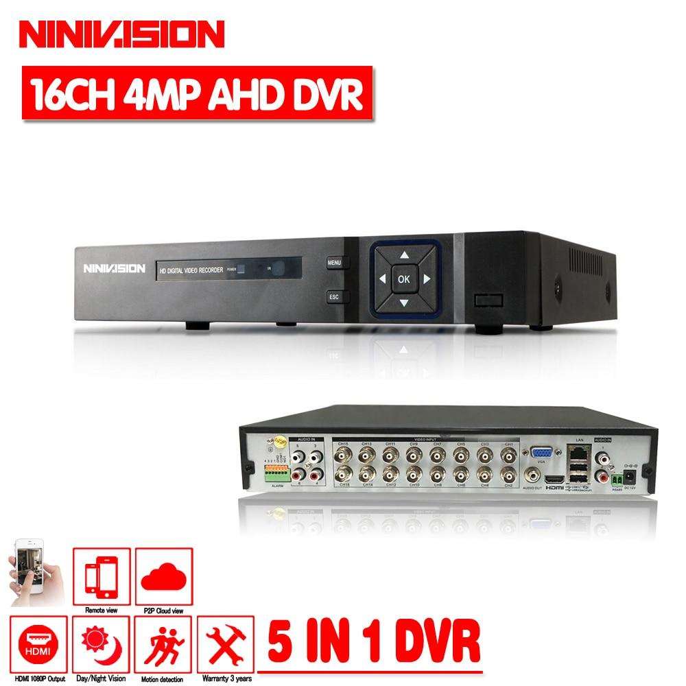 16 Channel AHD DVR 4MP 16CH AHD CVI TVI DVR 4M CCTV Video Recorder Hybrid DVR