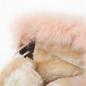 Image 5 - MORAZORA 2020 הגעה חדשה אמיתי עור קרסול מגפי תחרה עד פלטפורמת נעלי אופנה חורף מגפי להתחמם שלג מגפי נשים