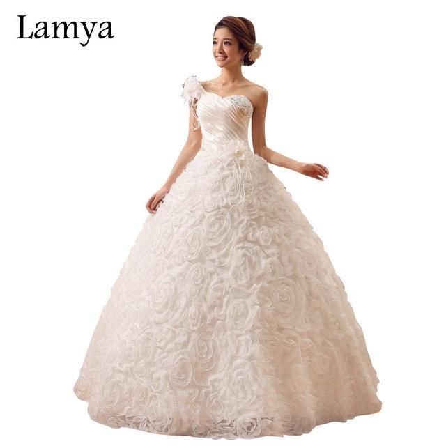 LAMYA vestidos de noiva One Shoulder Designer Wedding Dresses With