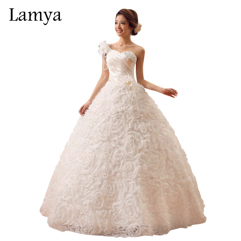 lamya vestidos de noiva one shoulder designer wedding