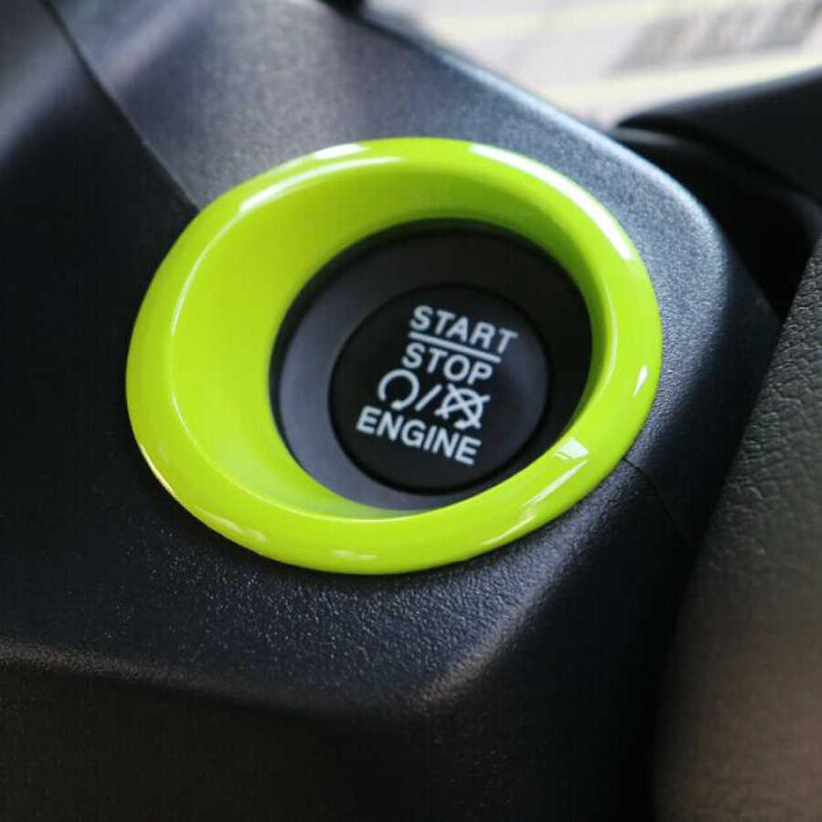1 Pcs Terbaru Mesin Mulai Berhenti Push Button Cincin Langsing Penutup Aksesoris Stopkontak ABS Untuk Jeep Renegade Gratis Pengiriman Dashboard