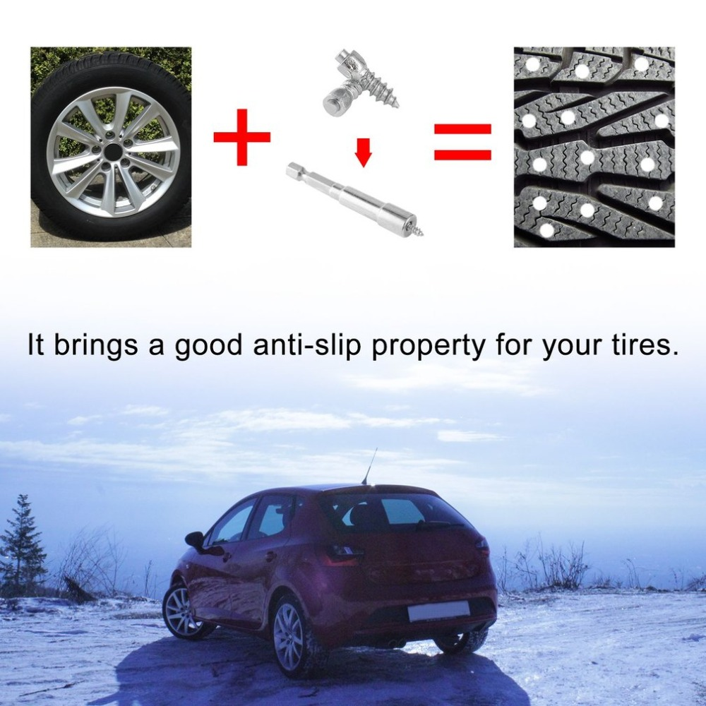 Cimiva Universal Auto Car SUV ATV Anti-Slip Screw Stud Wheel Tyre Snow Tire SpikesTrim Metal Winter Stud Screw 0.28JC-ZQ473200