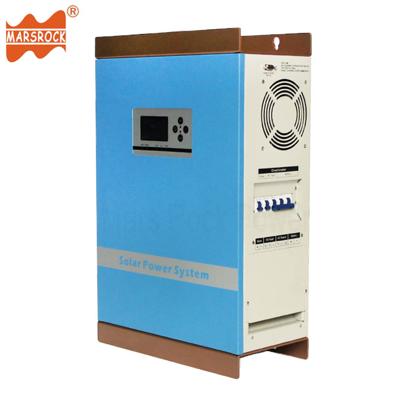 5000W Pure Sine Wave Hybrid Controller Inverter 48V 96V DC to 110V 220V AC Off Grid Solar Power Charger with LCD Display and CPU