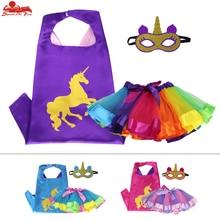 3-8 éves SPECIÁLIS L 27 * vicces egyszarvú párt lányok kabát maszk tutu szoknyák születésnapi téma cosplay tánc bemutató jelmez baba ajándék