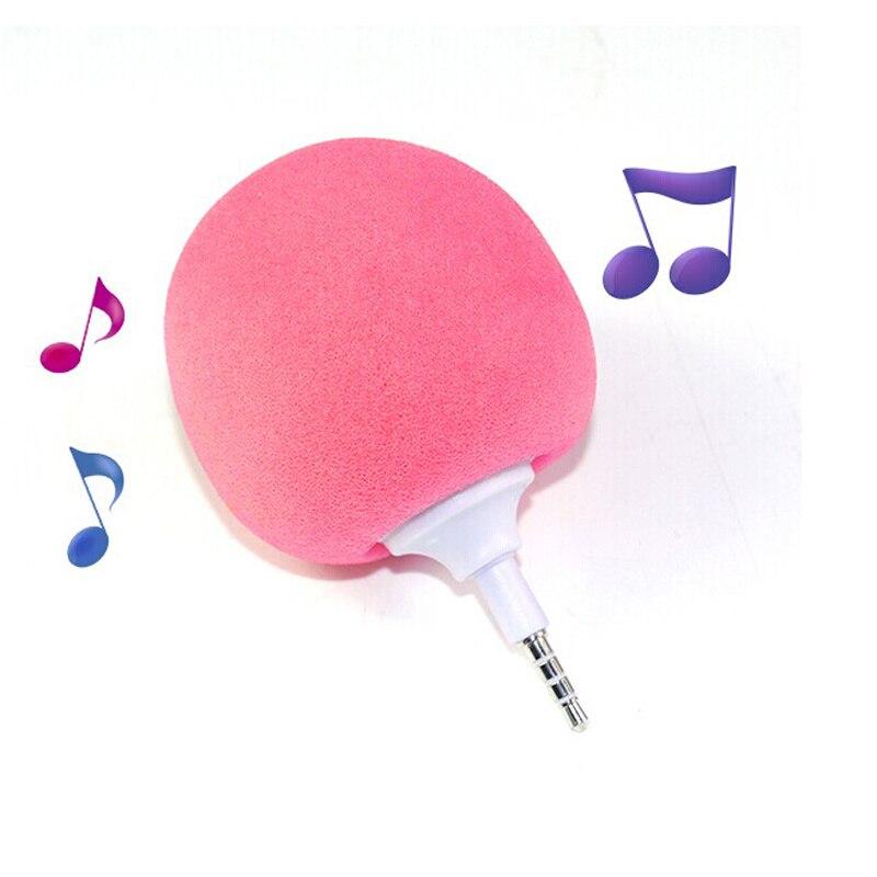 Azexi Portable Speaker Mini Speaker 3.5mm Audio Jack Sponge Ball Loudspeakers for Mobile Phone