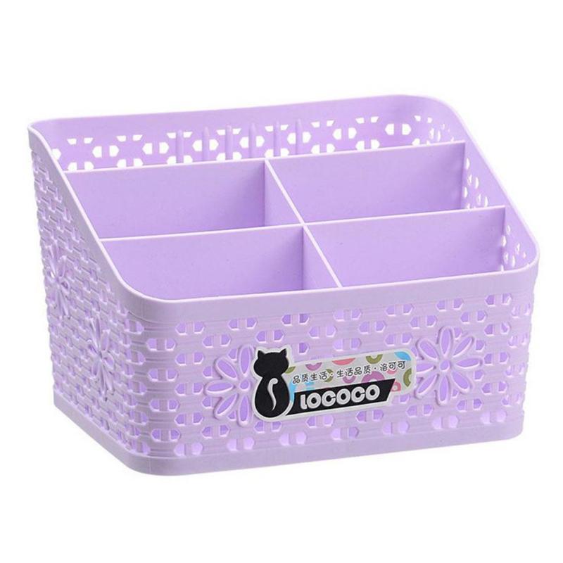 Cosmetics jewelry storage basket stationery baskets desktop remote control plastic storage box Office storage baskets #15