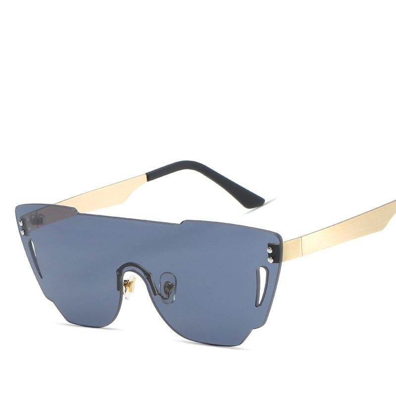 Superstar Artificial Big Frame Brand Luxury Sunglasses Women UV Protection Hot Rays Women Flash Mirror Sunglass Round Sunglasses