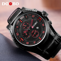 Mens Watches Top Brand Luxury DOOBO Men Watch Leather Strap Fashion Quartz Watch Casual Sports Wristwatch