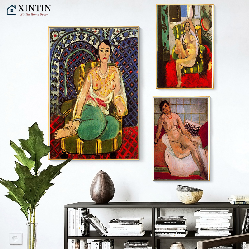 Nude Model Woman Henri Matisse Fauvism Modern Decorative Canvas Paintings Vintage Kraft Poster Wall Stickers Home Decor Gift image