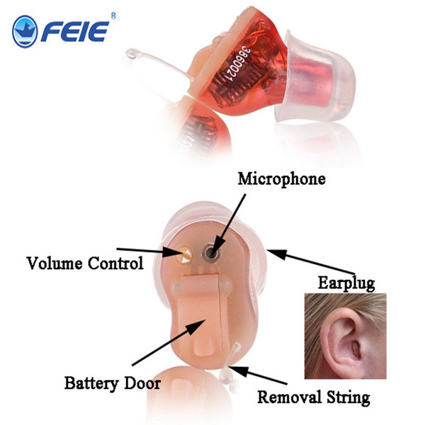 Reasonable Price Digital Ear Sound Amplifier Mini Programmable CIC Hearing Aid  deaf earphones S-12A feie s 12a mini digital cic hearing aid programmable deaf aid aparelho auditivo digital earphone hospital free shipping