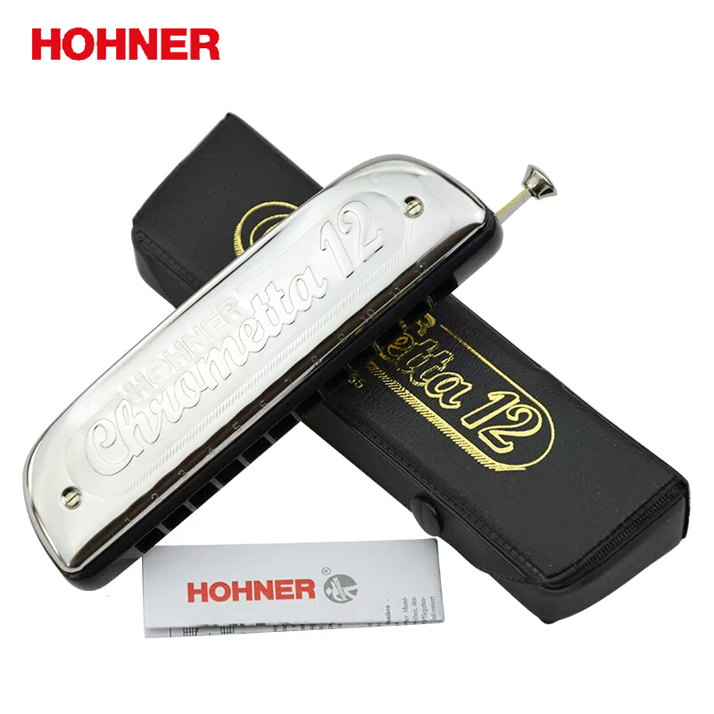 Hohner 255 Chrometta  12 holes Chromatic 12 Harmonica , Key Of C Major hohner pioneer m91520
