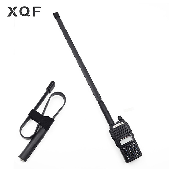 Dobrável Tático Antena SMA-Feminino Dual Band 144/430 mhz VHF UHF para Walkie Talkie Baofeng UV-82 UV-5R BF-888S UV-8HX Presunto Rádio