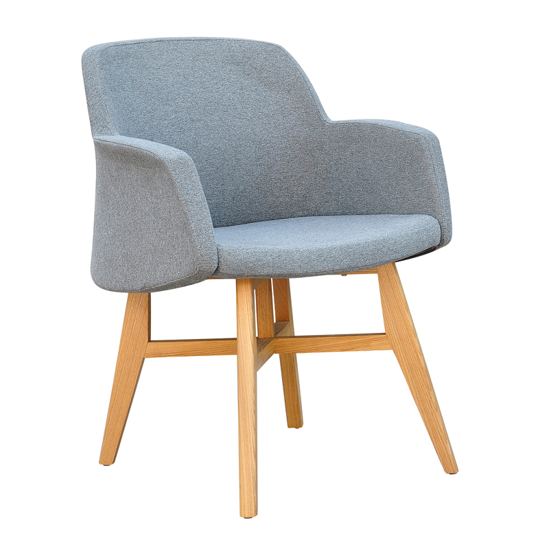 Fashion fabric dining chair wood chair modern and for Comfortable modern dining chairs
