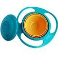 Niños vajilla tazón Non Spill juguete platos Universal 360 rotar evitar la comida derramar bocados de comida vaso taza superior T0001