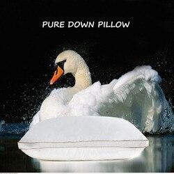IHAD pościel w dół poduszka tekstylia domowe poduszki do spania gęsie pióro wypełnienie tkanina bawełniana miękka ciepła zdrowa pielęgnacja szyi 74X48CM