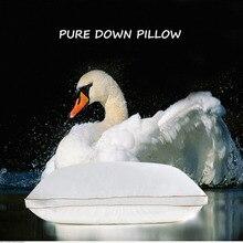 IHAD домашний текстиль для подушек, спальных подушек, наполнение гусиным пером, хлопковая ткань, мягкий, теплый, здоровый уход, шея 74х48 см
