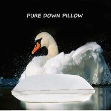 Ihave Bedding Down cojín textil para hogar, almohadas para dormir, relleno de plumas de ganso, tela de algodón, suave, cálido, saludable, cuidado del cuello 74X48CM