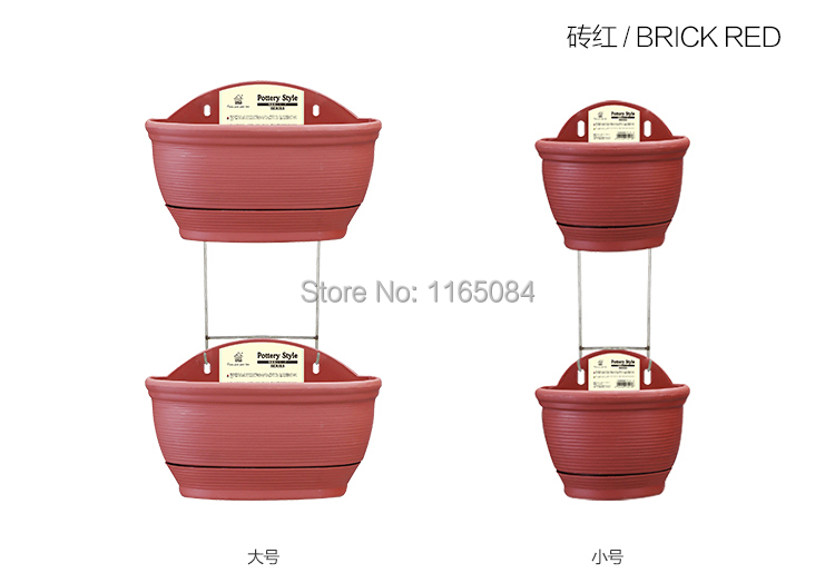 0007 двойное керамическое стильное Настенное подвесное кашпо горшок домашний Декор украшение сада автоматическое полив гидропоники горшки для растений