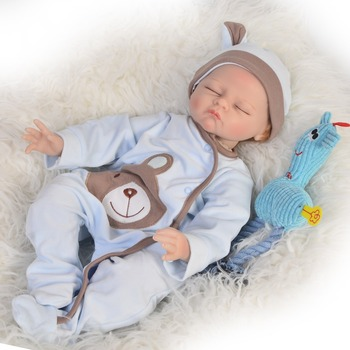 22inch Reborn Baby Doll Toys Lifelike handmade adorable Doll real touch sleeping bebe stylish Birthday Gift Girls Brinquedos