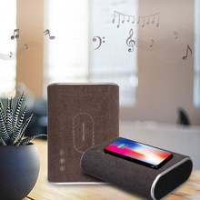 1Pcs wireless bluetooth speaker qi wireless charger Audio Mp3 music Player AUX USB portable bluetooth speaker Phone Charger