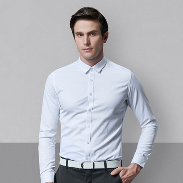 Champion spring new men s shirt Korean Slim youth business solid color  fashion wild long-sleeved shirt 4d3950c5a75f
