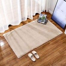 Плюшевый ковер в стиле ретро с имитацией кролика коврик для