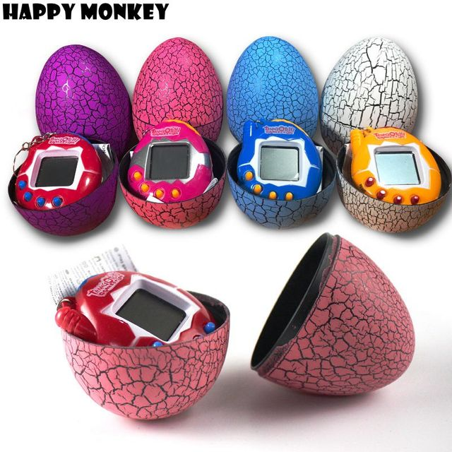 Free Dropshipping Multi-colors Dinosaur egg Virtual Cyber Digital Pet Game Toy Tamagotchis Digital Electronic E-Pet Kids Gifts
