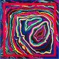Впечатление Живопись Геометрия Волнистые Линии Саржевого Шелка 100 СМ Косынка Роковой Бренд Шаль Шарфы Шелковый Шарф Платки Люкс
