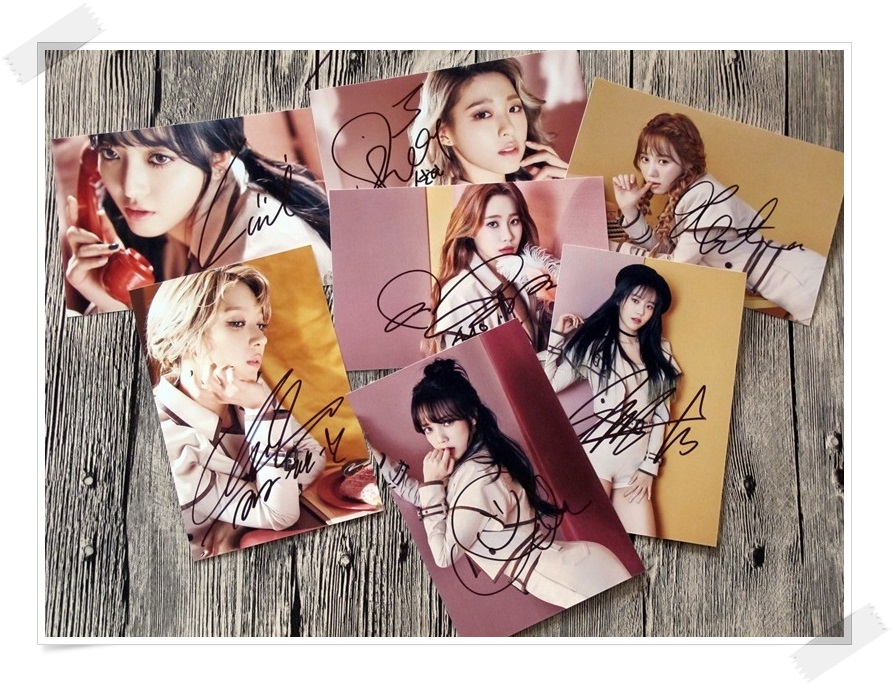 AOA  autographed  signed original photo ANGEL`S KNOCK 7 photos set   4*6 inches collection new korean  freeshipping 022017 A signed apink jeong eun ji autographed original photo 6 inches 6 versions freeshipping 082017b
