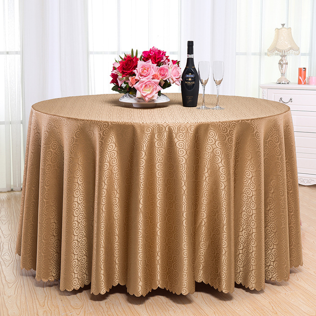 Romanzo Luxury Design Polyester Round Table Cloth Rectangular