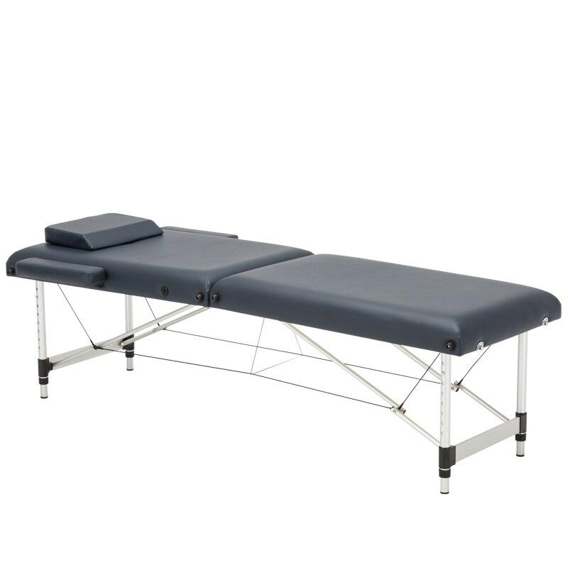 185cm*60cm Bed+ Pillow+armrest, Spa Tattoo Beauty Furniture Portable Foldable Massage Bed Salon Aluminum Alloy Massage Table