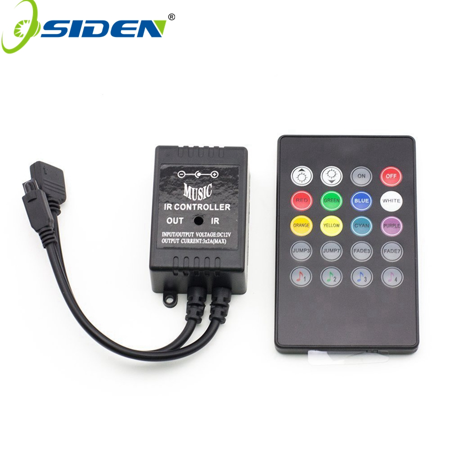 OSIDEN RGB controller light strip Music IR 20 Keys IR Remote Controller for 3528 5050 RGB LED Strip lights Mini Controller