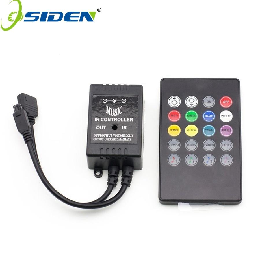 OSIDEN RGB valdiklio juostos šviesa Muzika IR 20 raktų IR nuotolinio valdymo pultas 3528 5050 RGB LED juostos lemputėms Mini valdiklis