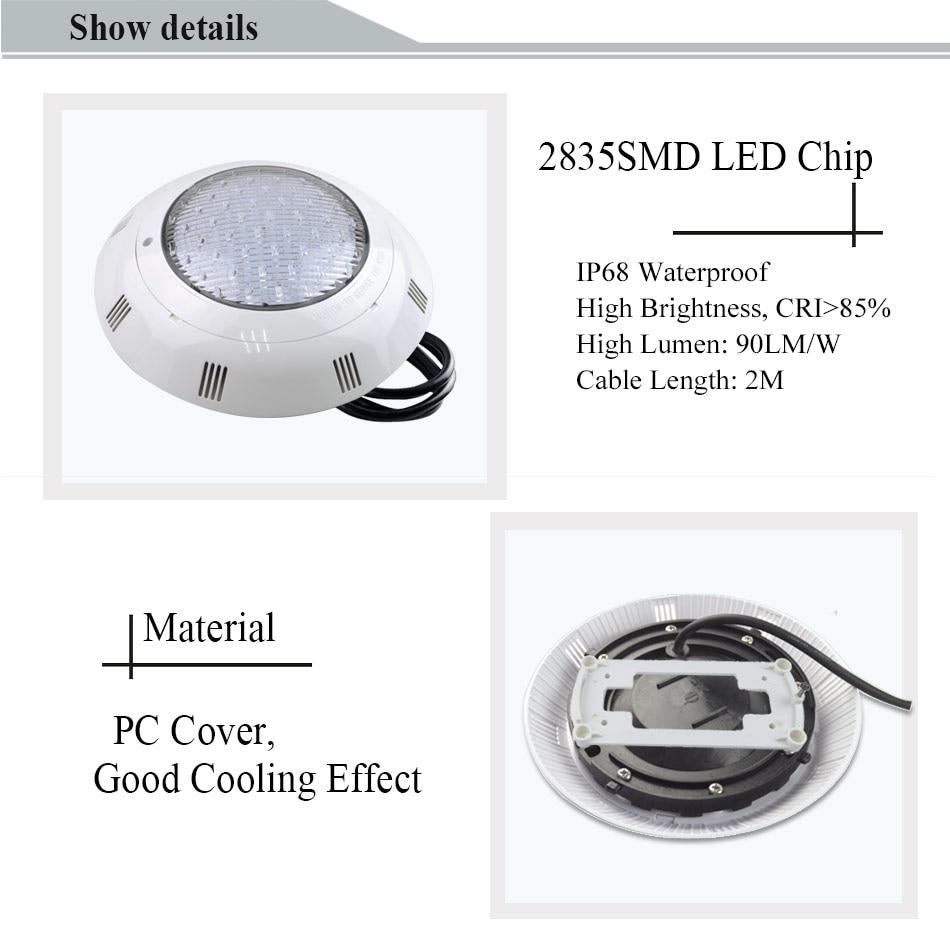 RGB LED Luz de la piscina IP68 Lámpara montada en la pared Piscina - Iluminación exterior - foto 5
