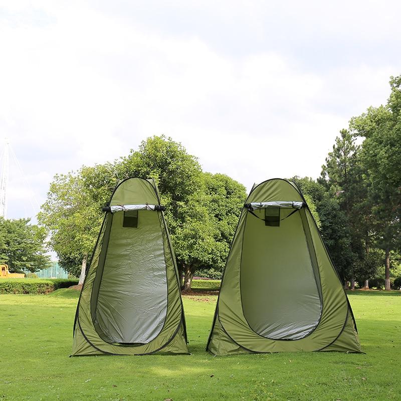 1-2 personas portátil privacidad ducha baño Camping tienda emergente camuflaje/función UV exterior tienda de campaña/tienda de fotografía