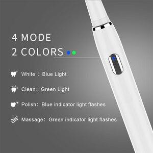 Image 4 - Seago Sonic Oplaadbare Elektrische Tandenborstel Met 3 Opzetborstels 2 Minuten Timer & 4 Borstelen Modi Waterdichte SG551