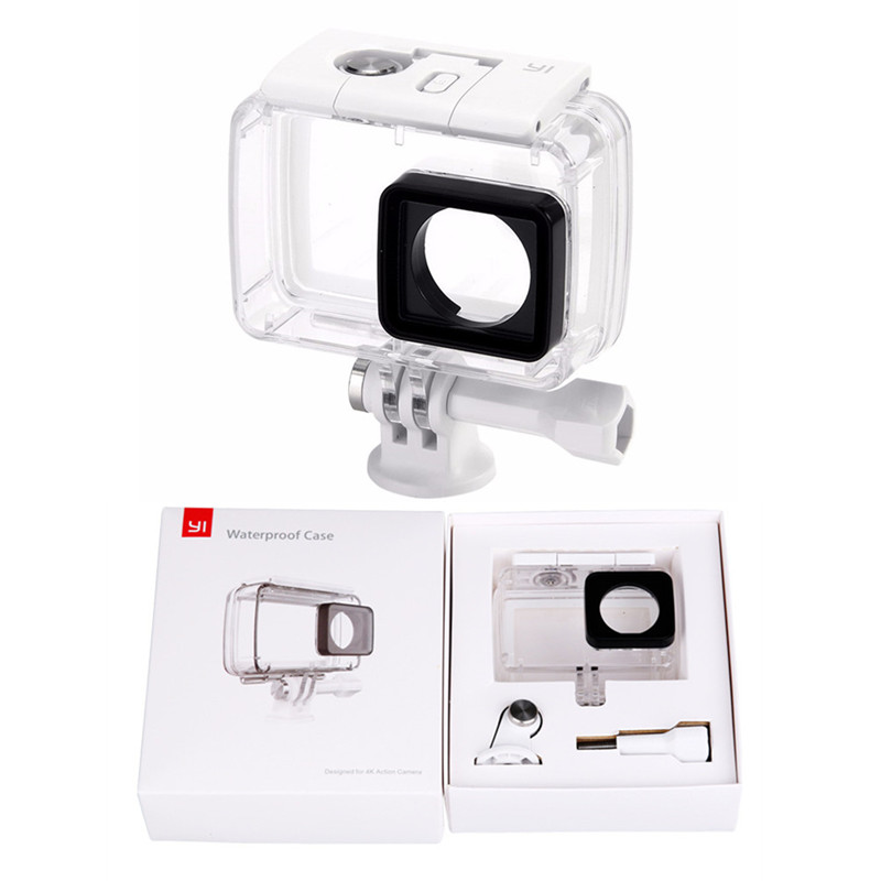 Diving Underwater Waterproof Housing Case Cover For Xiaomi Yi 2 4K Xiaoyi 2 4K Sports Action Camera Accessories F3556(China)