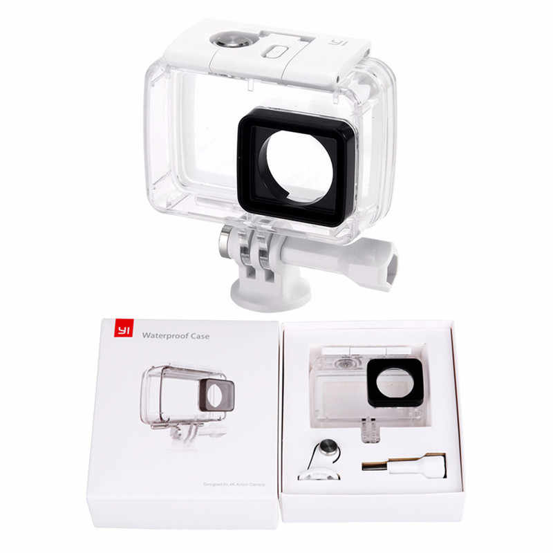 Diving Underwater Waterproof Housing Case Cover For Xiaomi Yi 2 4K Xiaoyi 2 4K Sports Action Camera Accessories F3556