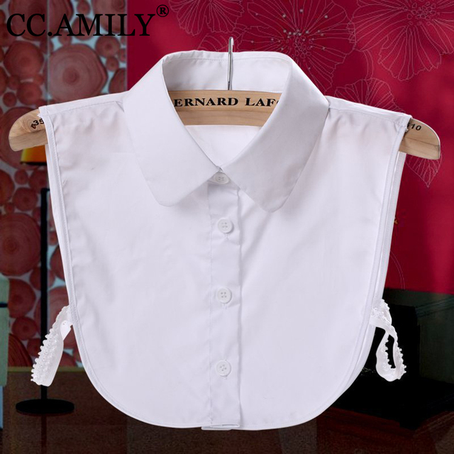 CC AMILY Ladies Women Adult Detachable Lapel Shirt Fake Collar Fashion Solid Color False Blouse Neckwear Clothing Accessories