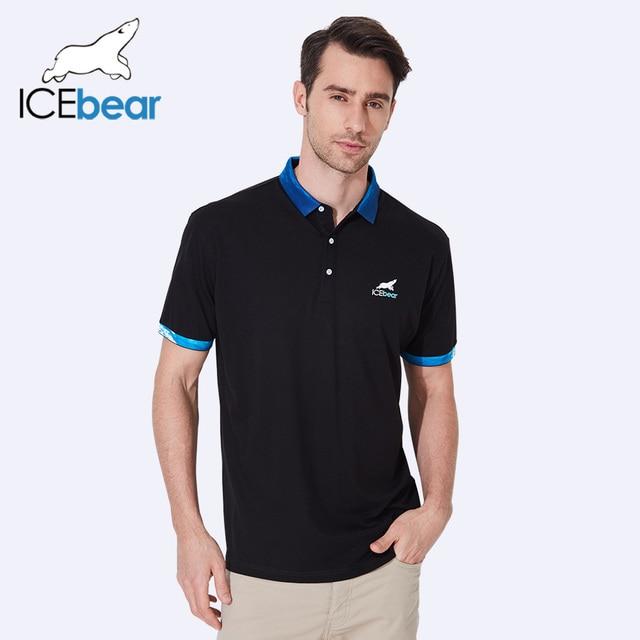 ICEbear 2017 Breathable Cotton Casual Men Brand Men's Design Polo Shirts Short For Men Top Brand Men Polo Shirts 18013D