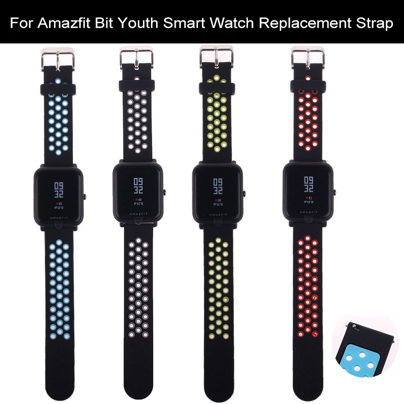 Soft Silicone Straps For Xiaomi Huami Amazfit Youth Bip Bit Pace Lite Smart Watch Band Replace